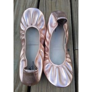 The Storehouse Flats Leather Rose Gold Size 10